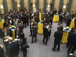 Scholarship Weekend attendees enjoy an on-campus networking reception with Simon students, faculty and alumni.