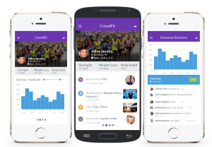 Bailey's app, CrowdFit, allows users to crowd-source fitness information and is slated to launch in February.