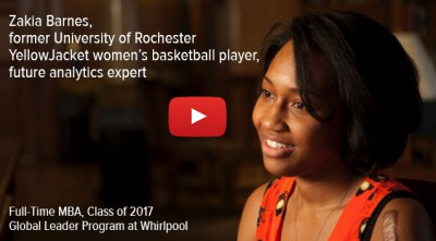 Student's passion for analytics leads her to Whirlpool -- Zakia Barnes, 2017 MBA Candidate