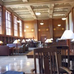 My preferred study space is in Rush Rhees library. I could really get used to learning in such a beautiful space.