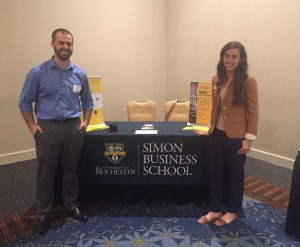 Albert Chatigny '15 MBA and Nicole Guzski, senior assistant director of admissions, were impressed by the prospective students they spoke with in Atlanta in July.